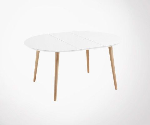 Table ronde design extensible 120-200cm bois KIOKY