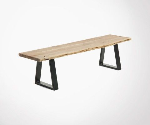 Bench 178cm BANCO acacia solid natural wood