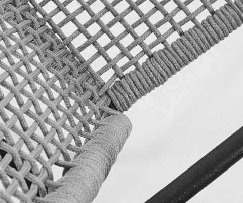Chaise de jardin corde tressée HELENE
