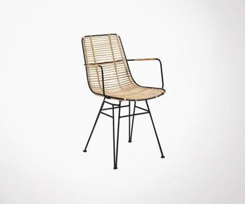 Natural rattan armchair OSIA