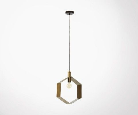 Lampe suspension métal laiton WISPER