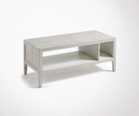 Coffee table 110x45cm white fir wood ELIE