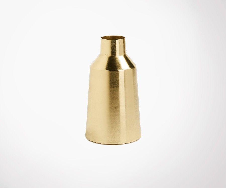Vase métal laiton CALOR