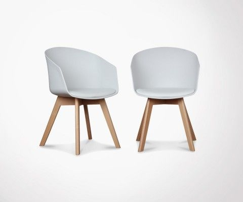 Set of 2 Scandinave Armchair with cushion - color of your choice