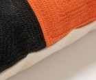 Housse de coussin tissu motifs orange PHOENIX