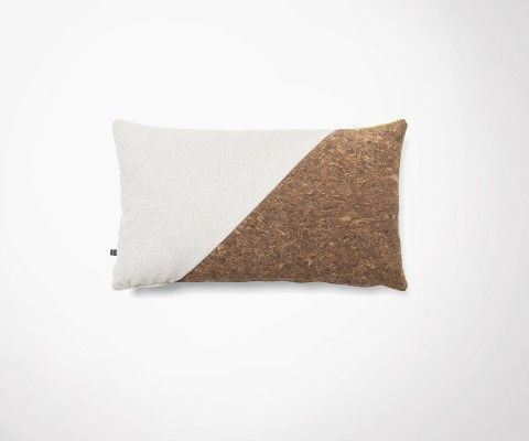 Housse de coussin rectangulaire tissu liège HULJ