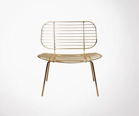 Fauteuil design lounge en métal FALLON