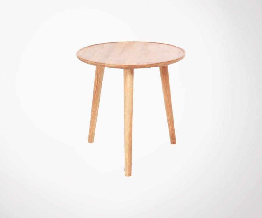 Table basse ronde 50cm chêne massif huilé YIZU