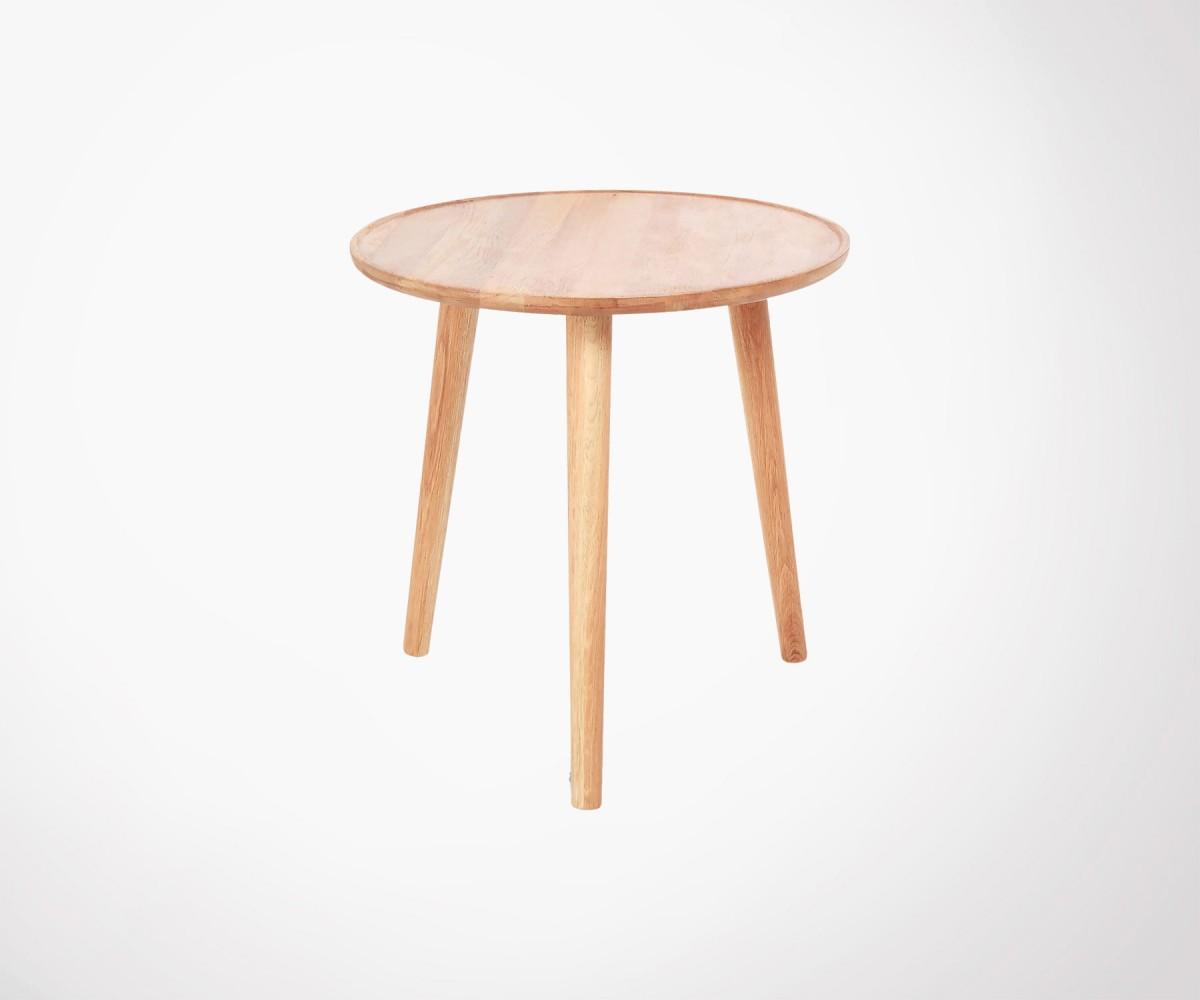 table basse ronde 50cm ch ne massif huil design minimaliste. Black Bedroom Furniture Sets. Home Design Ideas