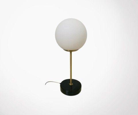 Lampe à poser marbre et laiton LOUBARN
