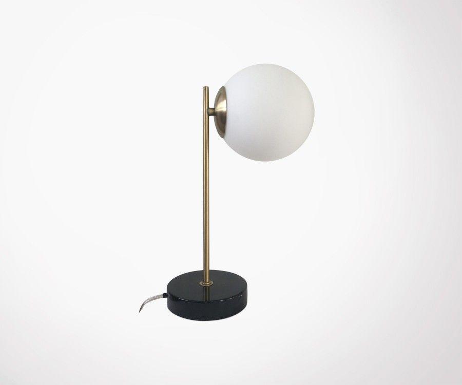 Lampe design marbre et laiton LOUBIRN