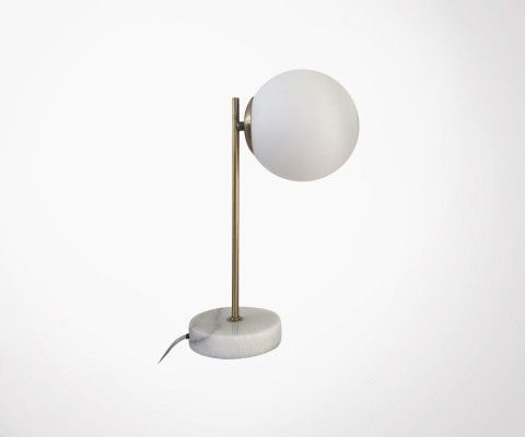 LOUBIRN design marble brass lamp