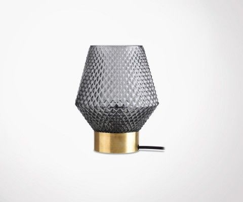 ABBYGAEL brass and glass table lamp