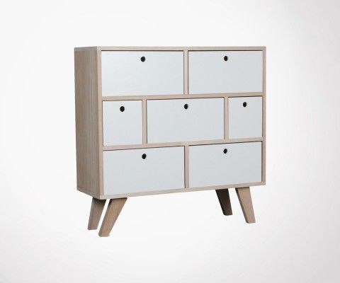 7 drawers scandinavian cabinet FERGUSON