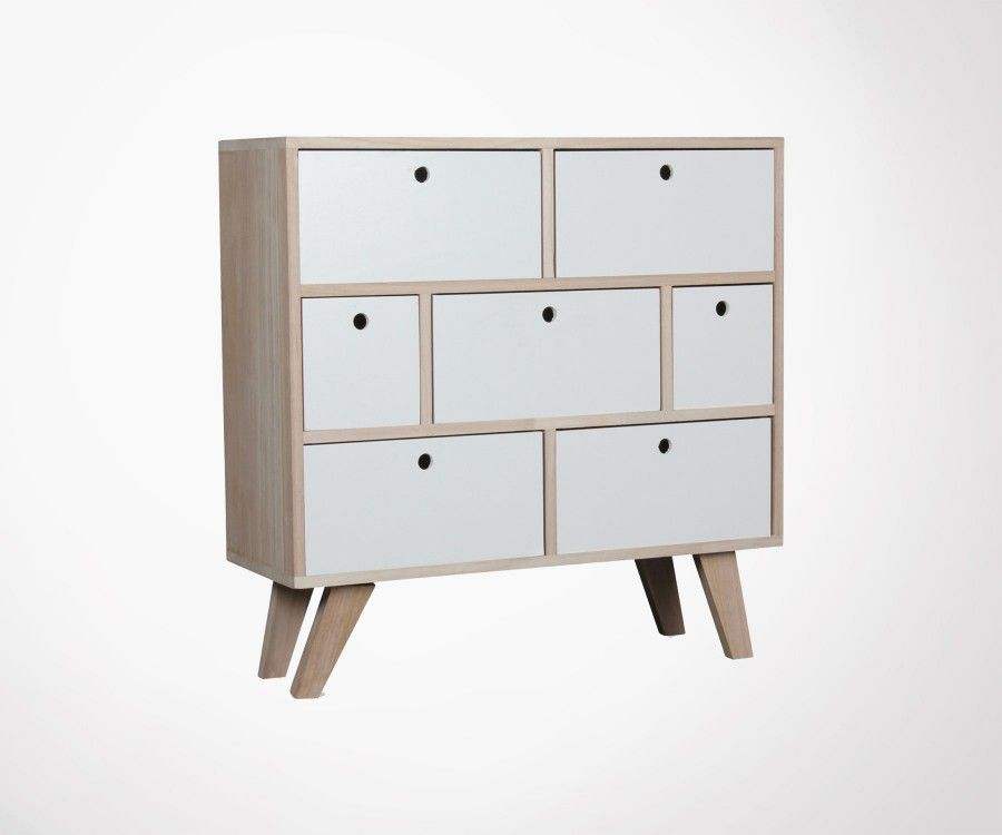 Commode scandinave 7 tiroirs FERGUSON