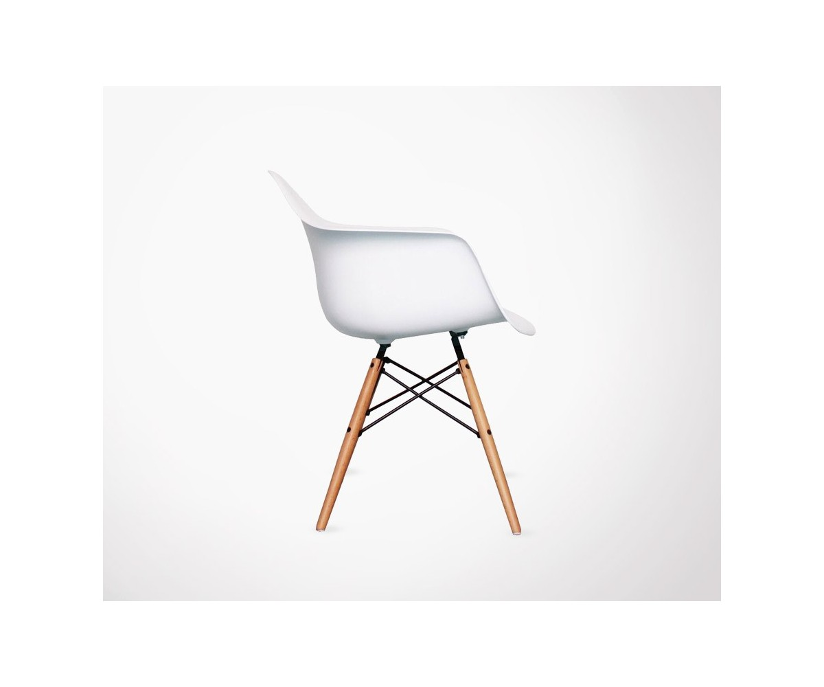 Fauteuil inspir de la chaise daw de c eames - Chaise daw charles eames ...