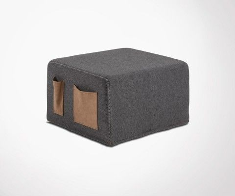 Chauffeuse lit compacte tissu SOCRATE - 70cm