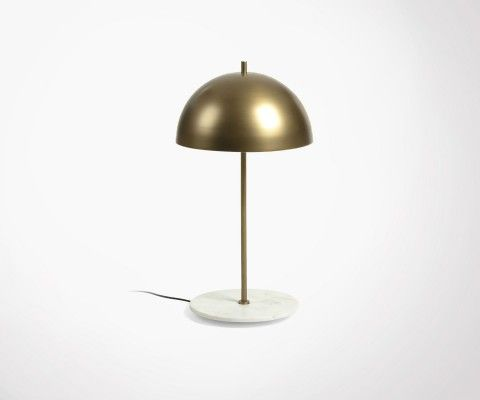 LOLY brass and marble bedside lamp