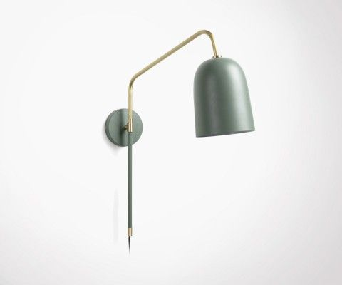 FRULE green metal scandinave wall lamp
