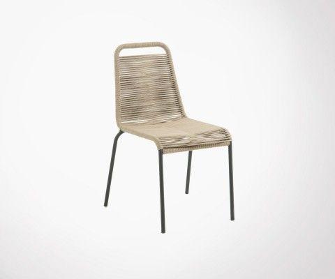 Chaise de jardin design en corde POKA