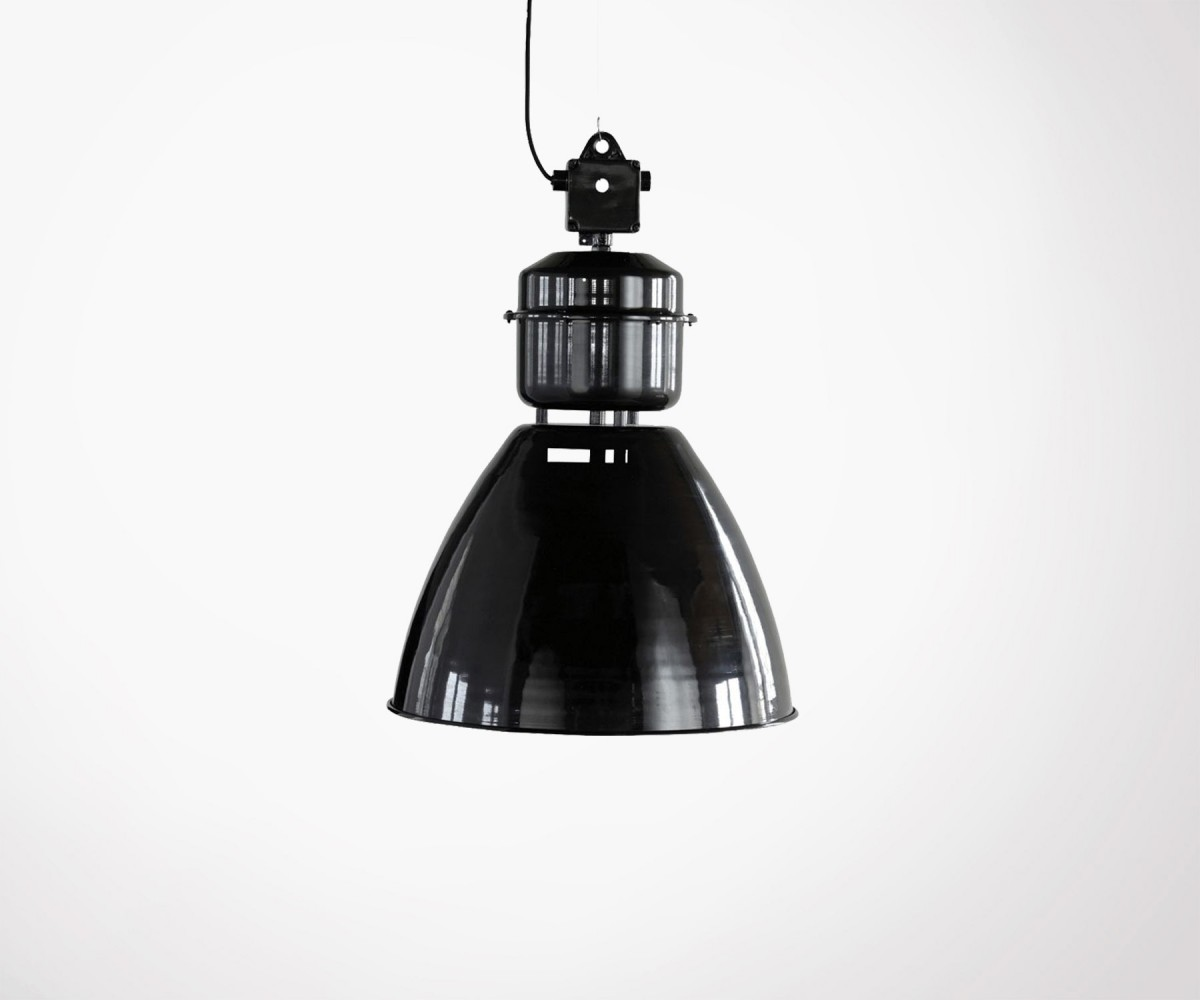 suspension industrielle house doctor m tal noir inspir e lampe usine. Black Bedroom Furniture Sets. Home Design Ideas