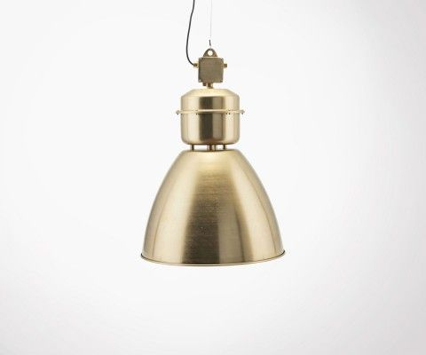 Industrial style brass pendant lamp VOLUMEN - House Doctor