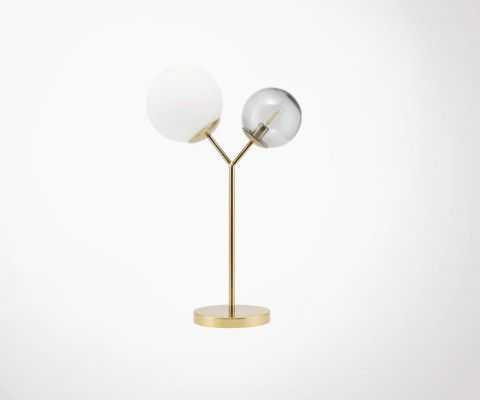 Brass and glass design lamp TWICE - House Doctor