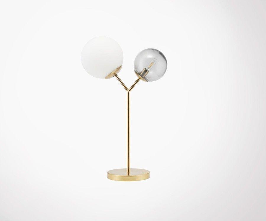 Lampe design laiton et verre TWICE - House Doctor