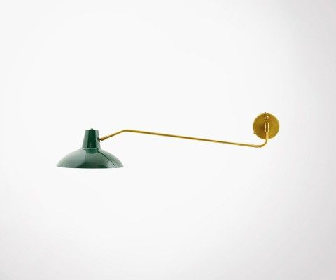 Green metal swivel arm wall light DESK - House Doctor
