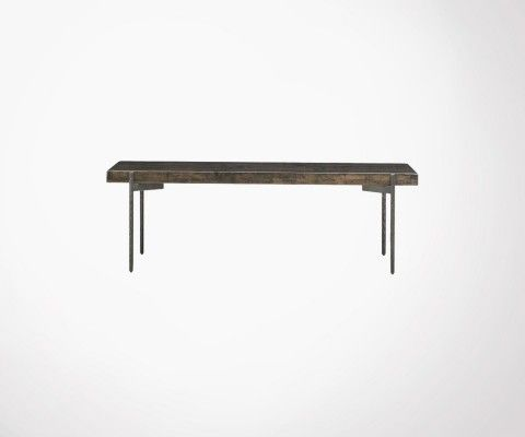 Grande table basse acier bois recyclé CLOSE - House Doctor