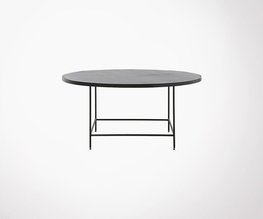 Table basse ronde 100cm aluminium BALANCE - House Doctor