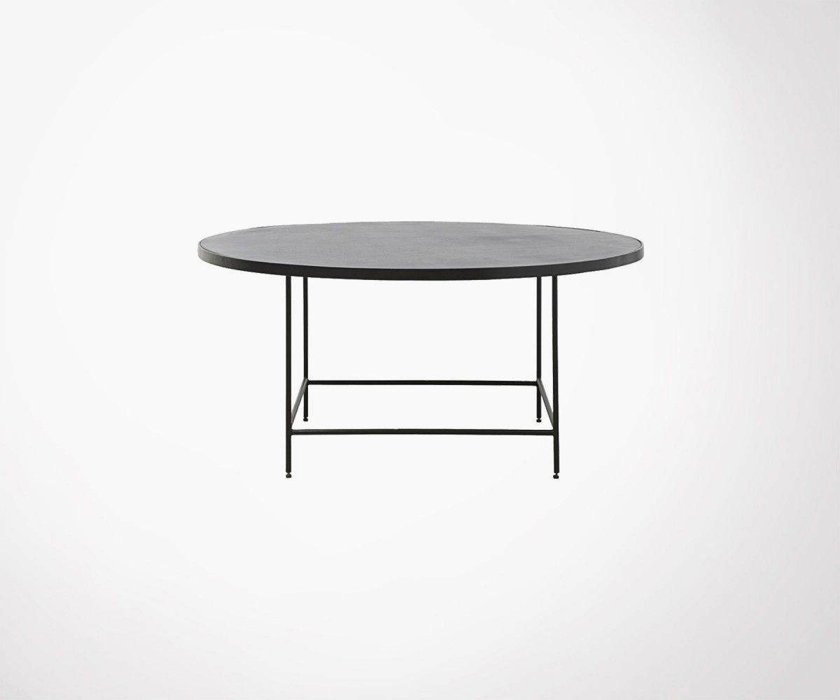 Table Basse Ronde 100cm Aluminium BALANCE   House Doctor. Loading Zoom