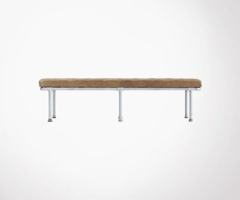 Buffalo leather design 180cm bench ADDITION - House Doctor