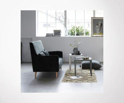 Petit canapé 2 places tissu vert beluga CHAZ - House Doctor