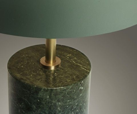 Lampe de table design métal vert MIROSKA
