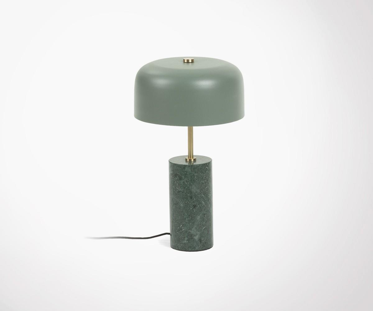 Lampe De Table Design En Marbre Vert Et Laiton Style Retro Chic