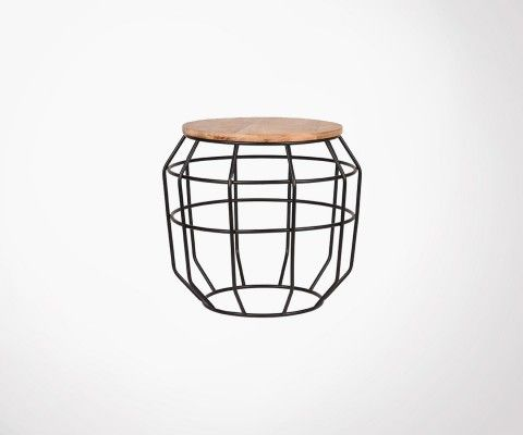 Wood and metal side table PIXEL M - Label 51