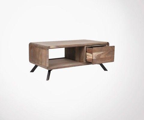 Table basse design bois acacia HAVANA - Label 51