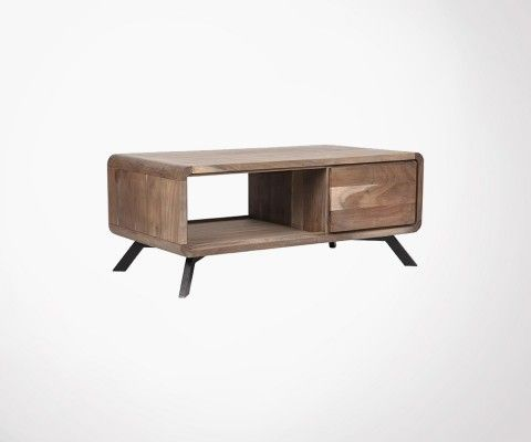 Table basse design bois acacia HAVANA - Label 51