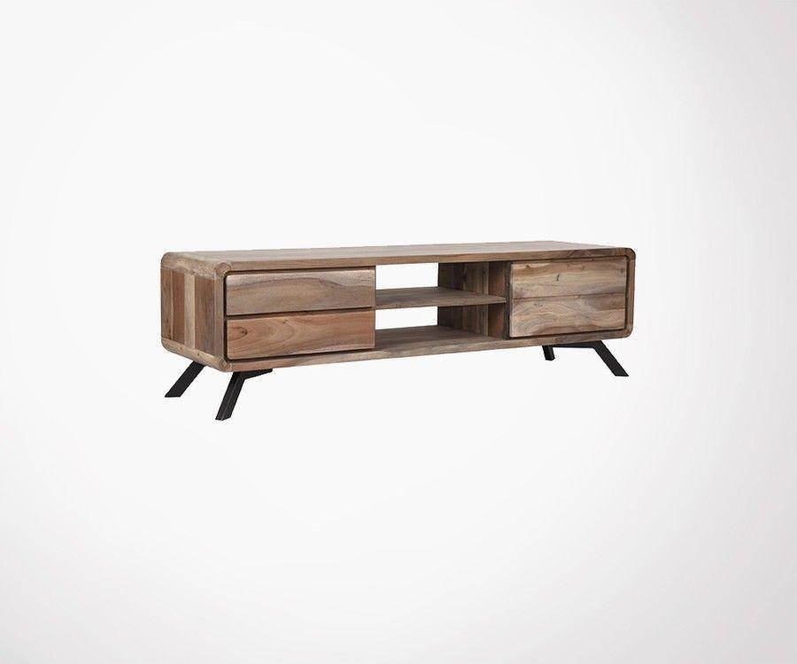 petit meuble tv design bois brut havana label 51 - Meuble Tv Design