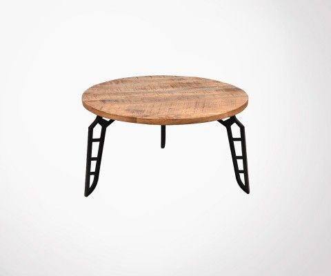 Table basse industrielle métal bois FLINTSTONE - Label 51