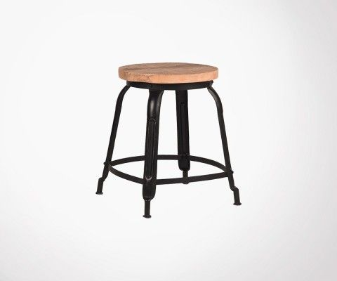 Small industrial design stool DELHI - Label 51