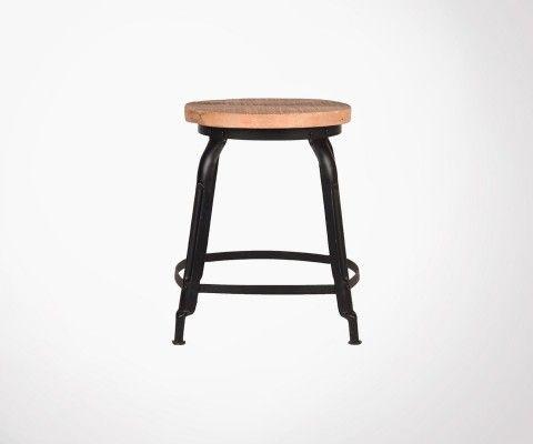 Petit tabouret design industriel DELHI - Label 51