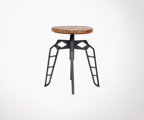 PEBBLE metal low stool - Label 51