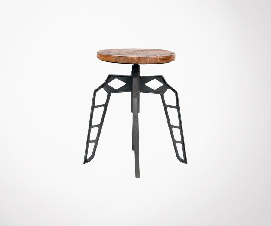 Tabouret bas bois métal PEBBLE - Label 51