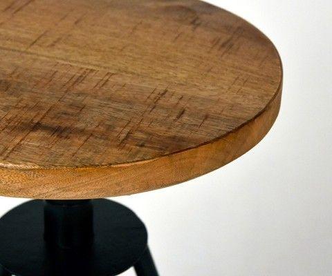 Tabouret design bois métal SOLID - Label 51