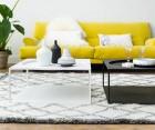 Table basse noir carré style industriel MELANIA