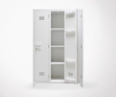 Armoire style locker université BRIDGET - gris