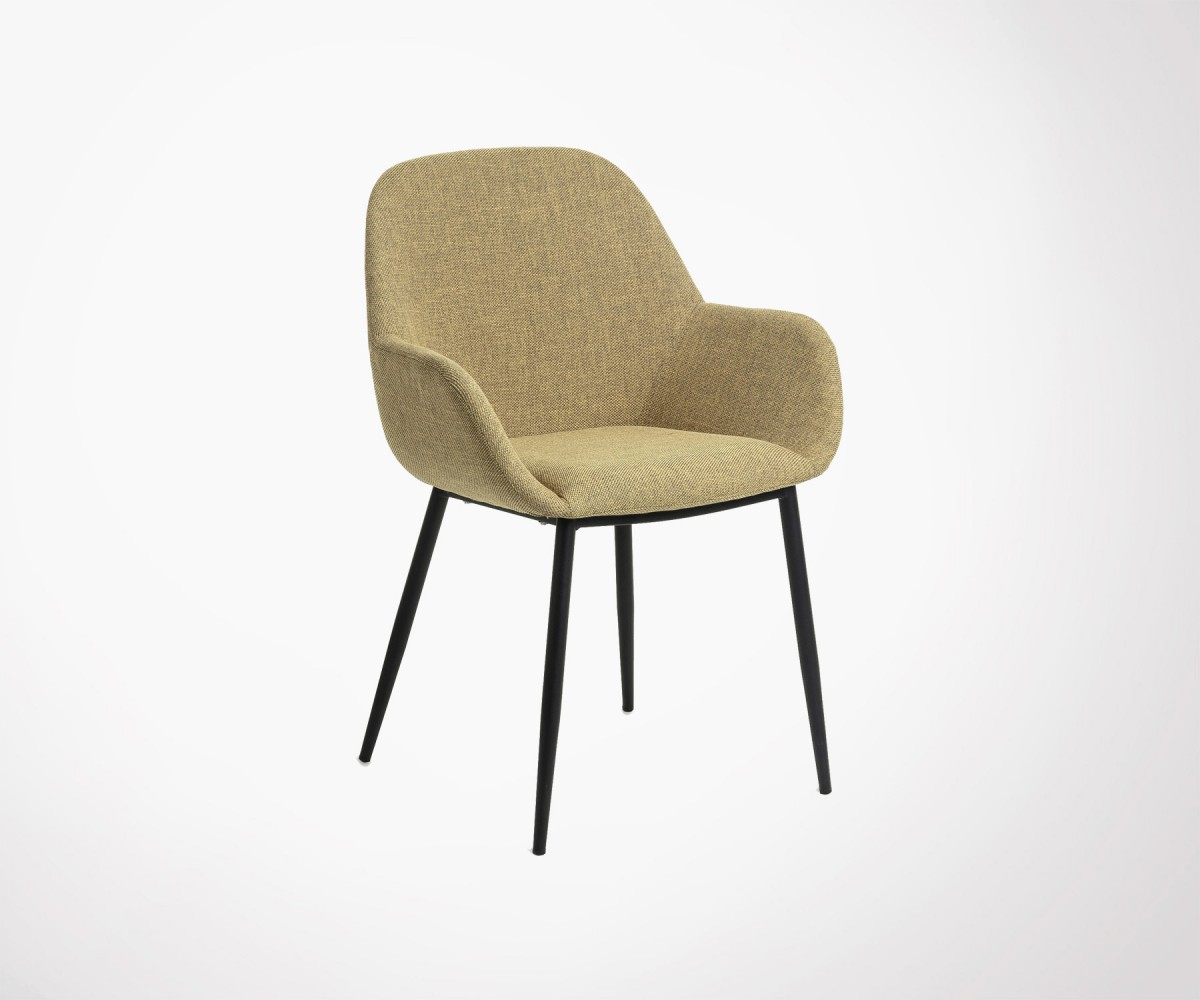 Upholstered Dining Chair With Armrests 4 Colors In Stock