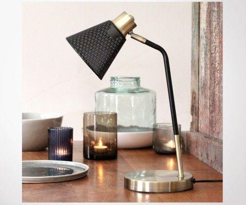 Lampe à poser laiton brossé LENNON - Red Cartel